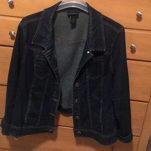 Size 26 jean jacket. Lane Bryant.